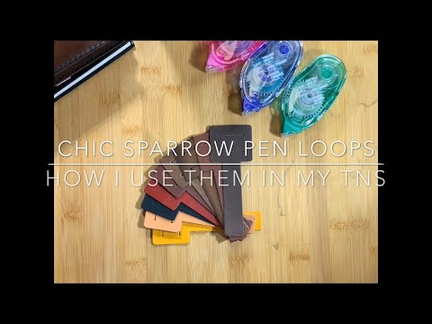 Chic Sparrow Glue-In Pen Loops - How I Use Them