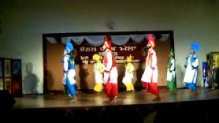 gndu campus bhangra team performing in youth fest 11 zonal competition