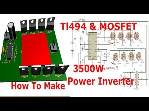 Super 3500Watt 12-220V Inverter with TL494 - ElectroBUFF - Video