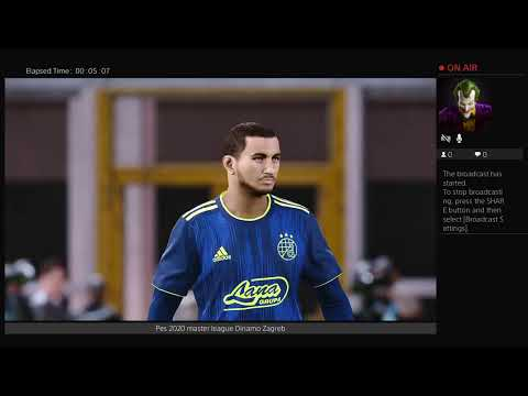 Pes 2020 Live Dinamo Zagreb Master League Youtube