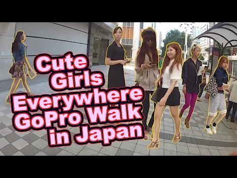 [HD] Cute Girls Everywhere! [Today in my Japan...(GOPRO HERO 2 walk thru my life -- RAW!)]