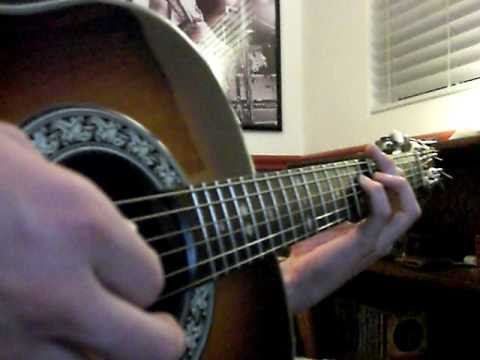 Rolling Stones Cant You Hear Me Knocking Riff On Acoustic Youtube