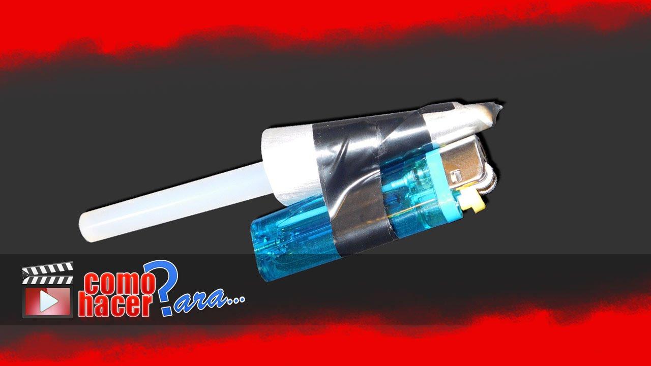 C mo hacer una pistola de silicona casera youtube for Pistola de pegamento o de silicona