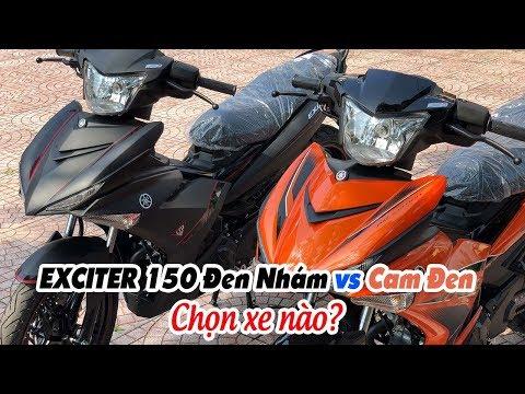 Yamaha Exciter 150 Đen Nhám vs Cam Đen ▶ So sánh chi tiết!