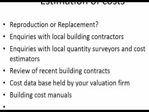 Propety Valuation 04: Cost Approach