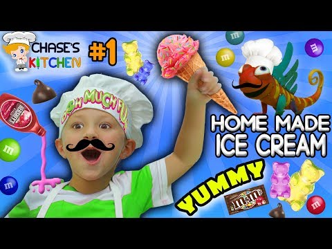 Chase's Kitchen: HOMEMADE HEALTHY ICE CREAM! Shake It 2 Make It (#1) | DOH MUCH FUN