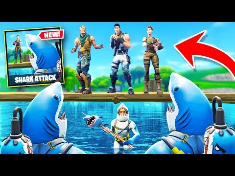 SHARK ATTACK *NEW* Custom Gamemode In Fortnite Battle Royale!