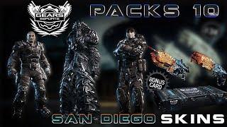 """Gears of War 4 l Open Pack 10 l  3 Bonus Skins Nuevos """" SAN DIEGO """" l  1080p Hd"""