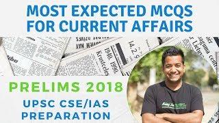 UPSC Prelims - Most Expected Current Affairs MCQs - Roman Saini - UPSC CSE/IAS Preparation