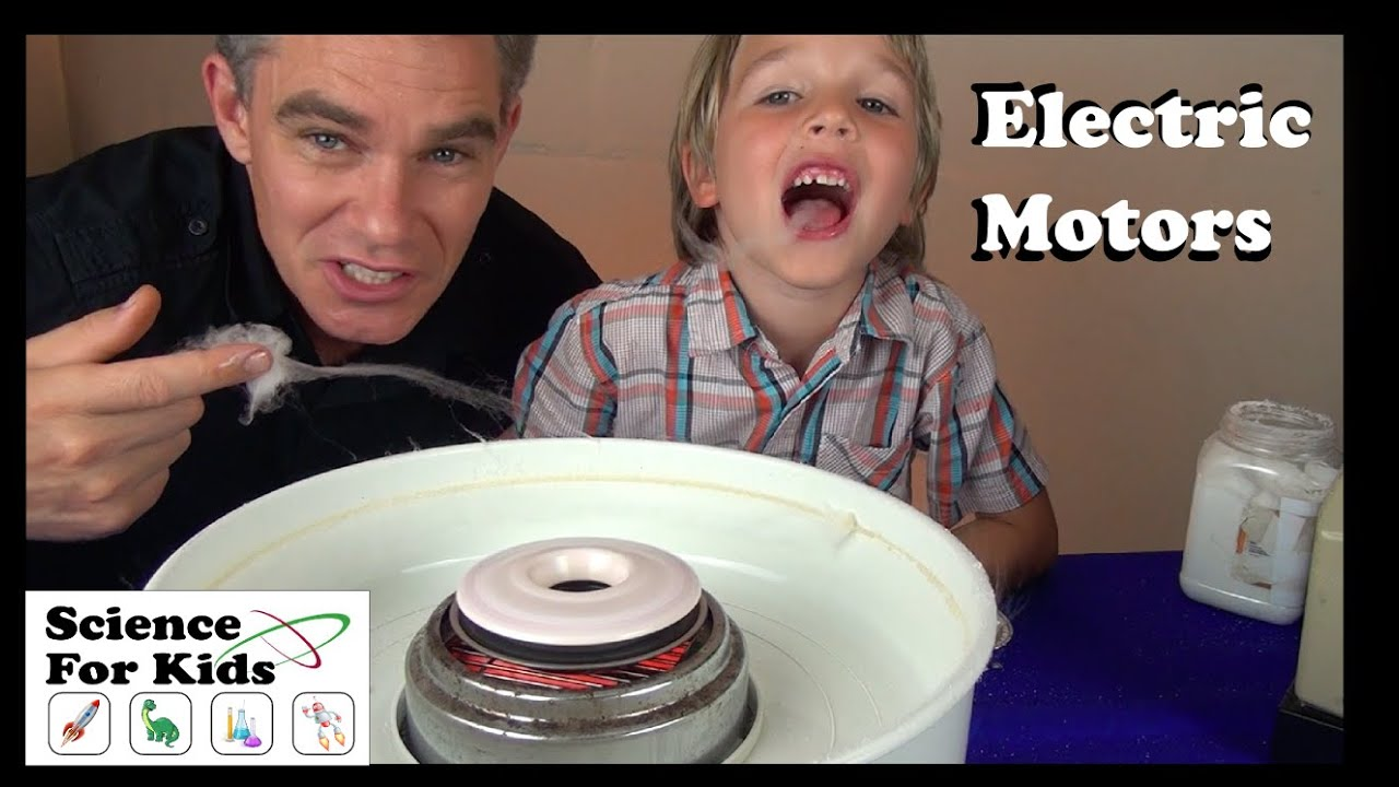 Things that use electric motors science for kids youtube for Science projects using motors
