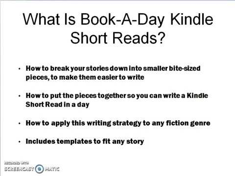 Book-A-Day Kindle Short Reads: REVIEW