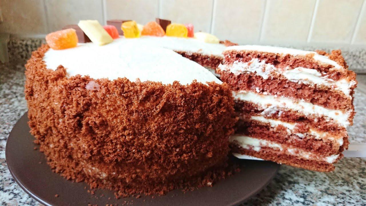ТОРТ Без Духовки и Печенья. Домашний торт на сковороде на Праздничный стол за 30 минут!
