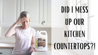 Countertop Makeover ~ Stripping Wood ~ Kitchen Makeover ~ Wooden Countertops