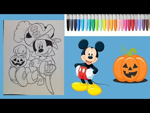 Mickey Mouse Halloween Coloring Page Disney Book