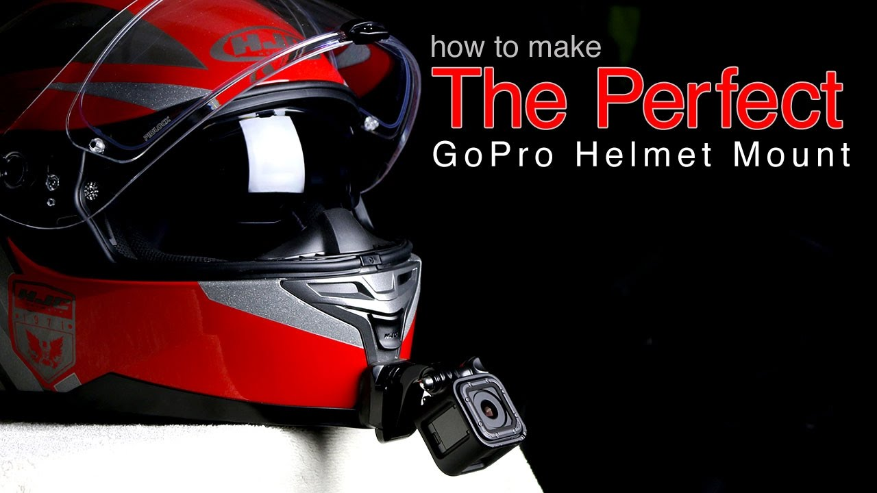 How To Mount Camera On Motorcycle Helmet