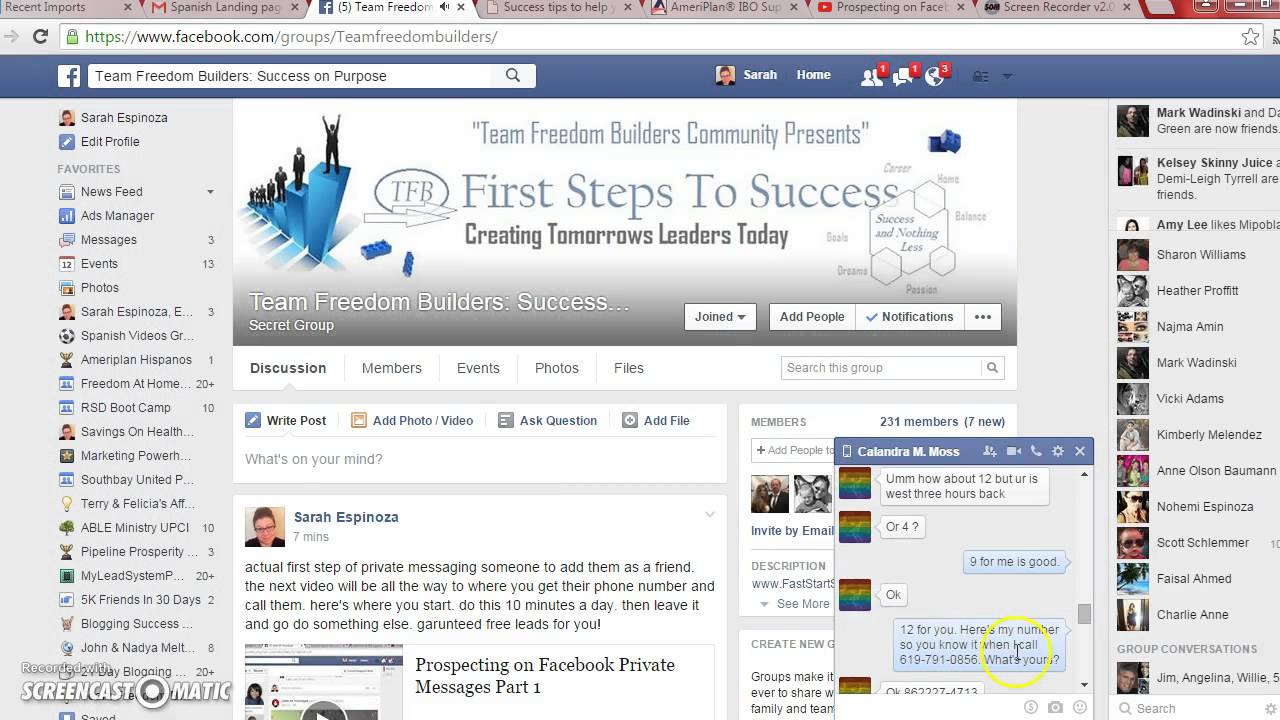 Prospecting on Facebook Private Message Part 2 #1