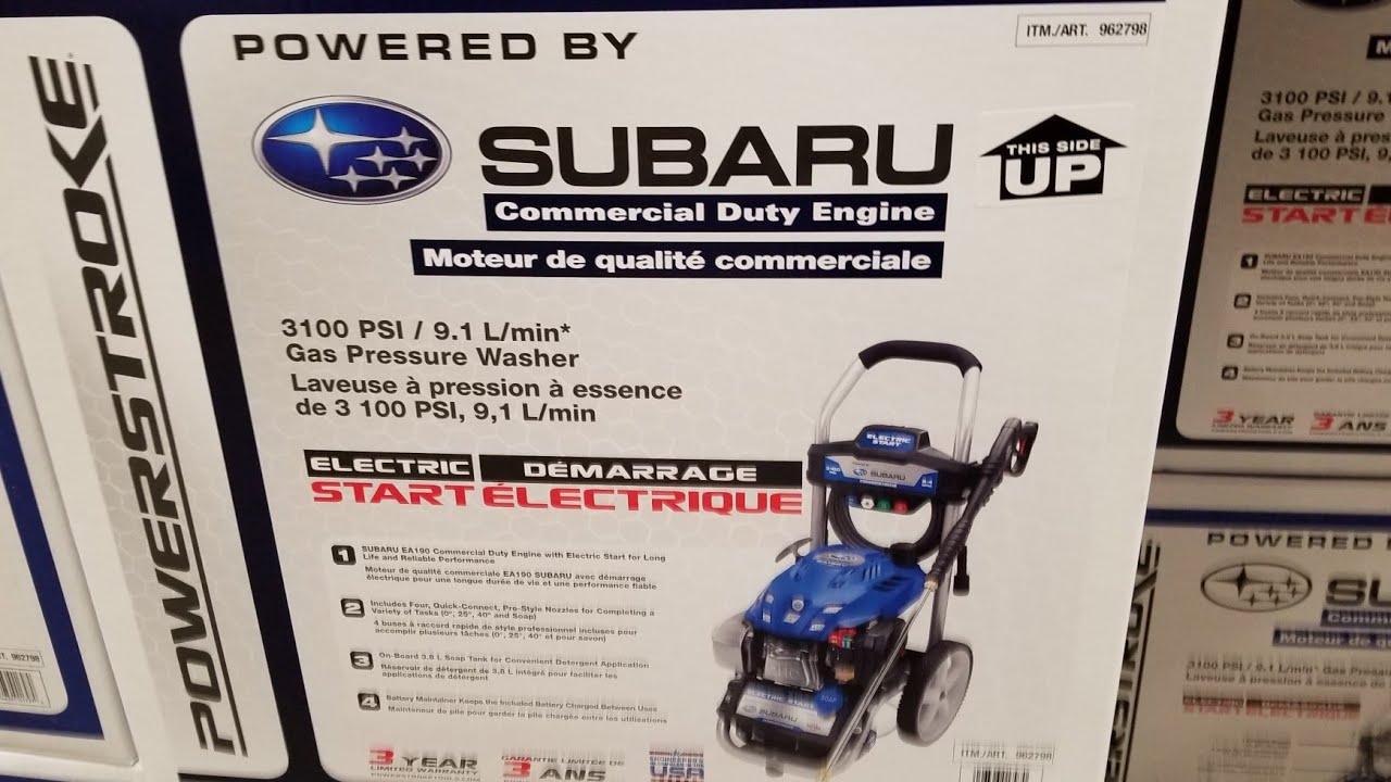 Costco Subaru Powerstroke Gas Pressure Washer Youtube