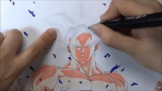 Como Dibujar GOKU MIGATTE NO GOKUI Dominado 100% | Mastered Ultra instinc DibujAme Un