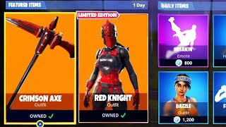 RED KNIGHT SKIN RETURNING *PROOF*! - Fortnite Battle Royale Red Knight Skin & Crimson Axe