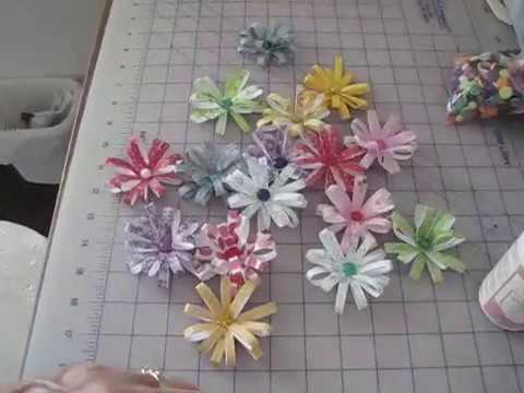 💚🌸Paper Flower Embellishments~How to make them💚
