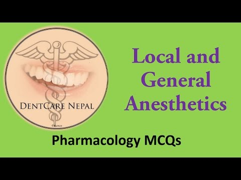 Pharmacology MCQs - Local and General Anesthesia for AIIMS, PGIMER