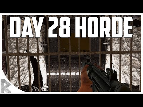 Day 28 Horde w/ NEW BASE! - 7DTD Gameplay: WOTW Mod #24