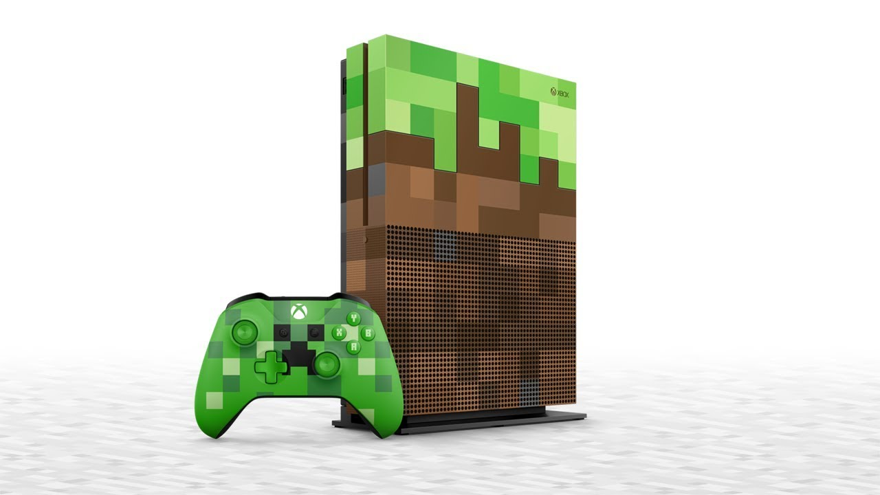 This limited edition Minecraft Xbox One S bundle looks like dirt