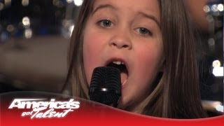 "6-year-old Aaralyn Screams Her Original Song, ""zombie Skin"" - America's Got Talent"