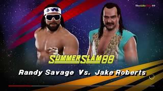 WWE2K17 Randy Savage vs Jake Roberts'91 SummerSlam'88