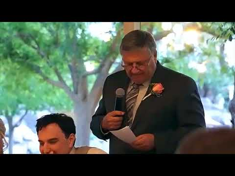 Father of the Groom gives touching speech to his Son