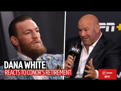Dana White Responds To Conor McGregor's Retirement And Talks Fighter Pay   UFC 250 Press Conference