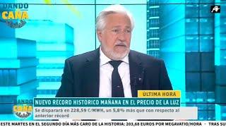Julio Ariza arroja luz sobre coste real del kilovatio en España
