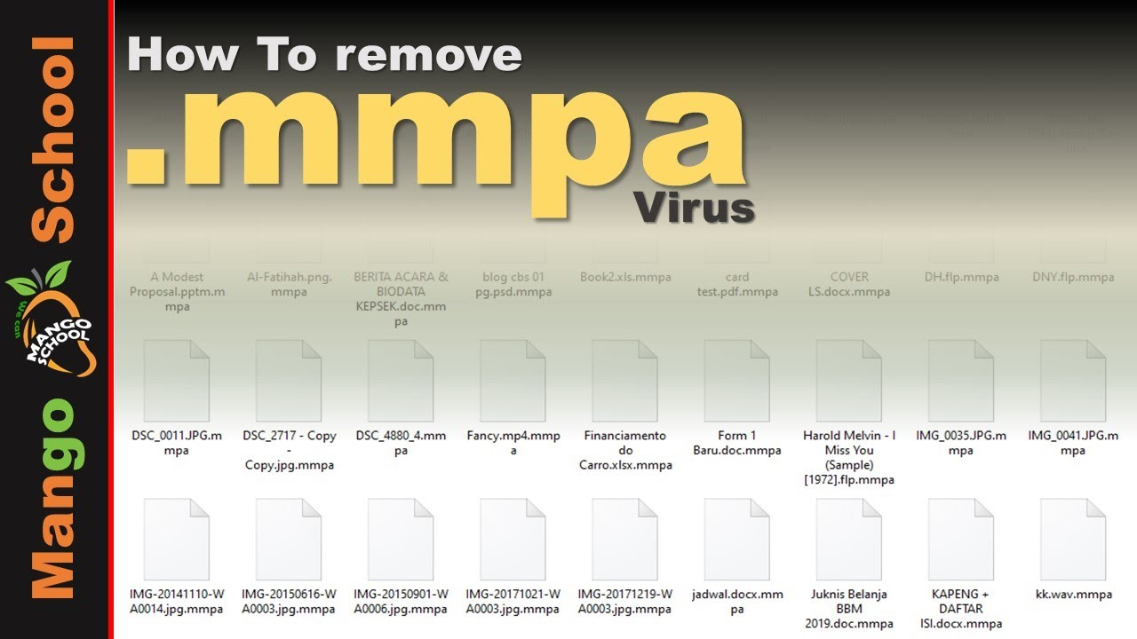 MMPA file virus ransomware [.mmpa] Removal and decrypt guide