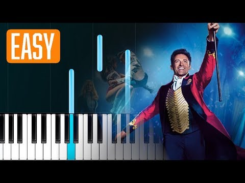 P!nk - A Million Dreams (The Greatest Showman Reimagined 100% EASY PIANO TUTORIAL
