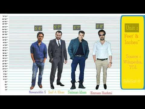 Bollywood Actors Height Comparison   Shortest vs Tallest