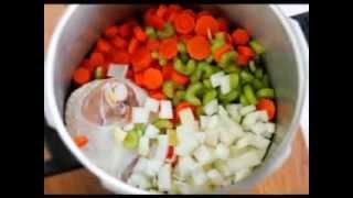 .beef Hot Dog Soup With Vegetables And Tubetti Pasta