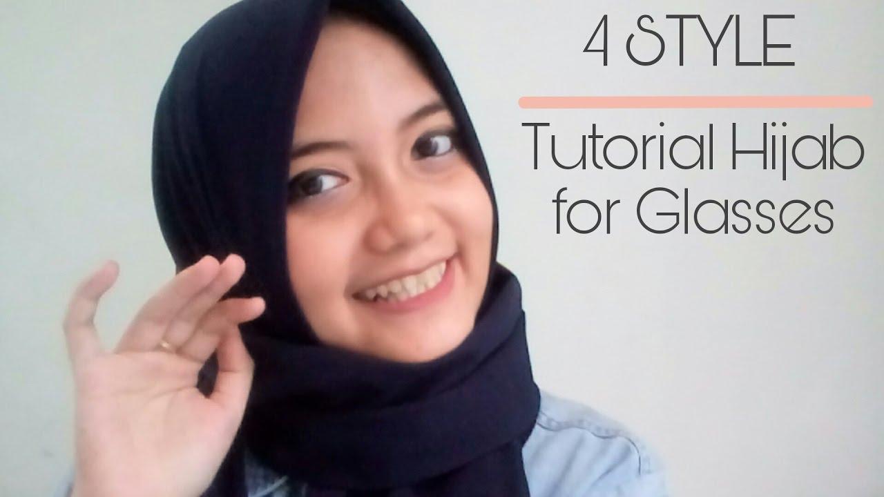 4 Style Tutorial Hijab For Glasses Tutorial Hijab Pashmina