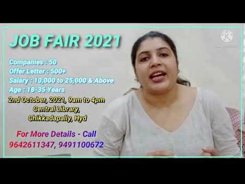 Free Job Fair -2021, 2nd October Hyderabad, Chikkadapally