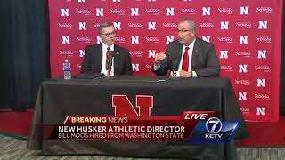 Chancellor Green introduces new Nebraska athletic director, Bill Moos