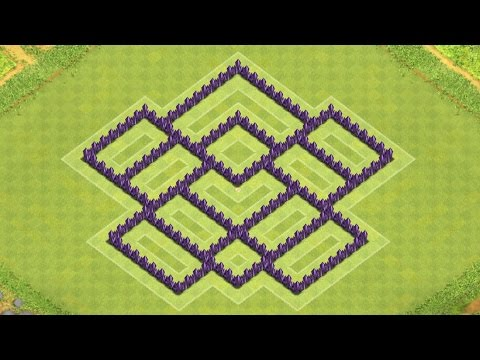 Clash of Clans Town Hall 7 Defense BEST CoC TH7 Hybrid Base Layout ...