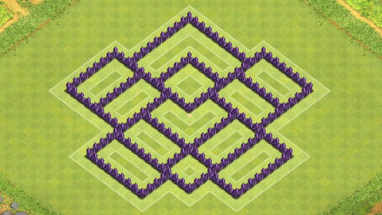 Clash Of Clans Town Hall 7 Defense Best Coc Th7 Hybrid Base Layout Defense Strategy Youtube