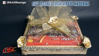 DIY Gift Basket from Waste Material | How To Make | JK Arts 657