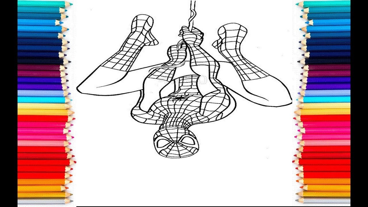 Spiderman Coloring Pages For Kids How To Colour Halloween Spiderman