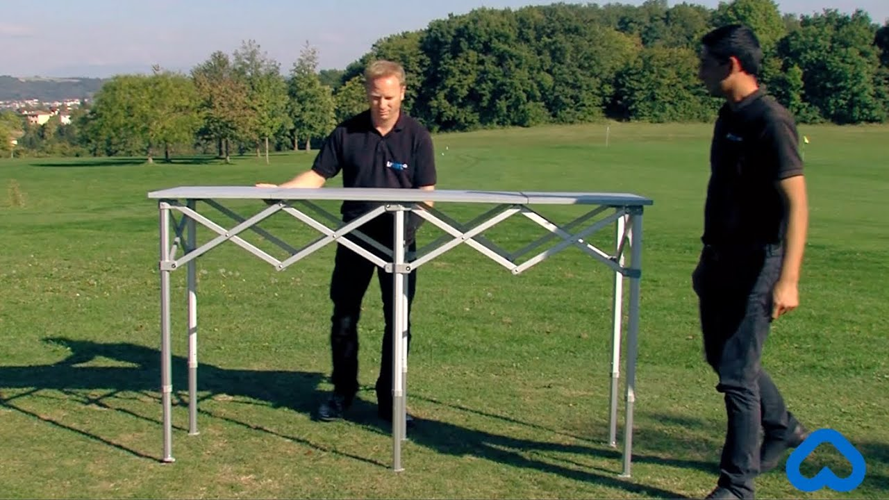 Table pliante alu personnalisable lptent youtube - Equerre pliante pour table ...