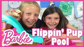 Barbie Flippin Pup Pool Review by Junior Gizmo