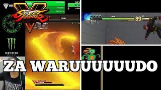 OMG Street Fighter V Plays: ZA WARUUUUUUDO