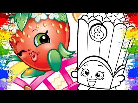 POPPY CORN SHOPKINS VIDEOS CARTOON DESENHO PORTUGUES Cor Artist kids Art Painting Online learning