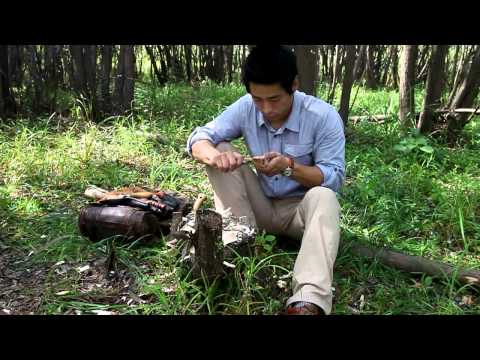 making wooden spoon 나무숟가락만들기 bushcraft korea survival 부시크래프트