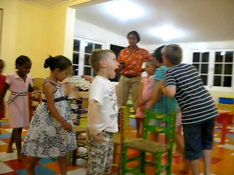 musical chairs in the kids club at barbados