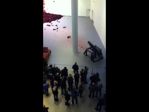 Kapoors Shooting into the corner at ARoS Museum of modern art in Aarhus